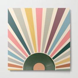 Record sun retro Metal Print