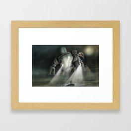 Robot H Framed Art Print