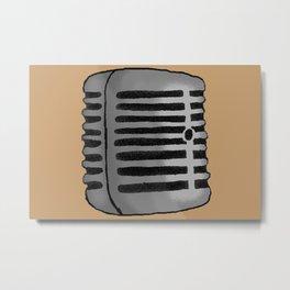 Old Microphone Metal Print