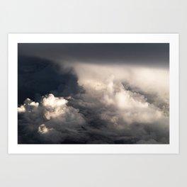 Clouds Above Atlantic Ocean Art Print