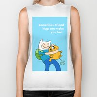 finn and jake Biker Tanks featuring Finn and Jake Fart  by Richtoon