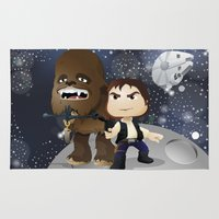 han solo Area & Throw Rugs featuring Han Solo & Chewbacca by 7pk2 online