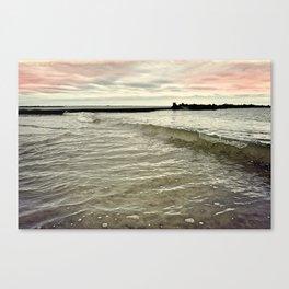 Sunset Crashing Canvas Print