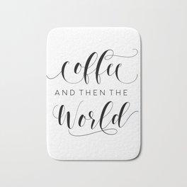BUT FIRST COFFEE, Coffee Sign,Coffee Bar Decor,Kitchen Wall Art,Kitchen Decor,Drink Sign Bath Mat