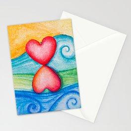 Balances on the wave Stationery Cards