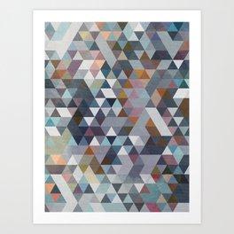 Triangles Pastel 2 Art Print