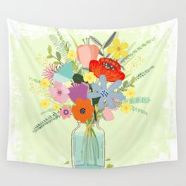 Bringing Summer Wildflowers Inside Wall Tapestry