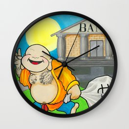 Laughing All The Way To The Bank Wall Clock