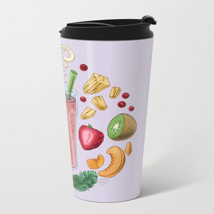 Smoothie Diagram Metal Travel Mug