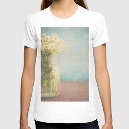 A mason jar full of pretty flowers. T-shirt