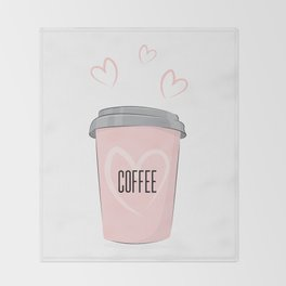 Coffee is my love Throw Blanket