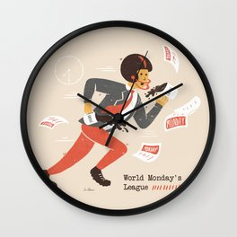 Monday Sports Wall Clock