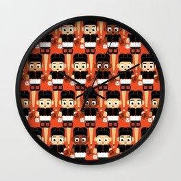 Baseball Black and Orange - Super cute sports stars Wall Clock