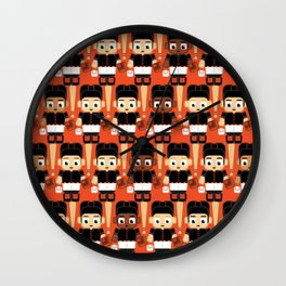 Baseball Black and Orange - Super cute sports stars Wall Clock