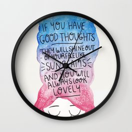 Good Thoughts Watercolour Wall Clock