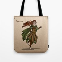 valar morghulis Tote Bags featuring Nessa by wolfanita