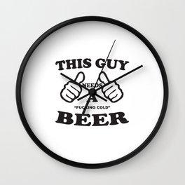 Fucking Cold Beer Wall Clock