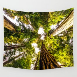 Up the Redwoods Wall Tapestry