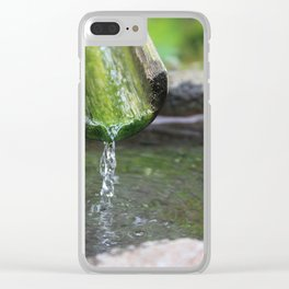 Bamboo Drip Clear iPhone Case