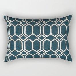 Geometrics in Blue and White Diamonds Rectangular Pillow