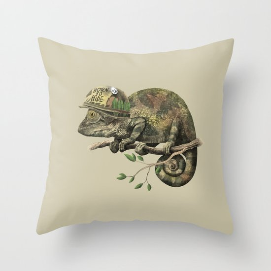 Born to Hide  Throw Pillow