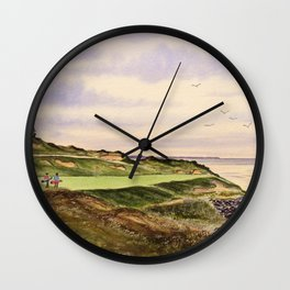 Whistling Straits Golf Course Hole 7 Wall Clock