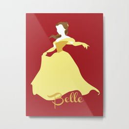 Belle from Beauty and the Beast Metal Print
