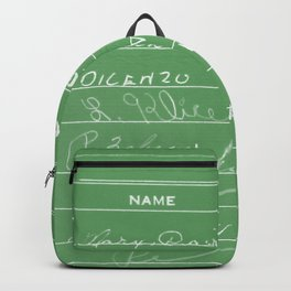 Library Card 23322 Negative Green Backpack