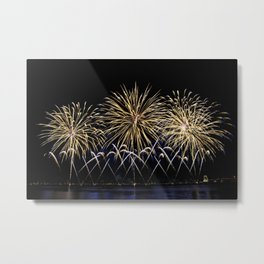 Firework flowers at Cannes, France Metal Print