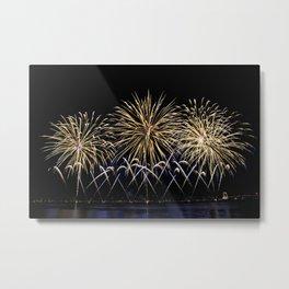 Firework flowers at Cannes, France Metal Print