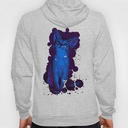 abyssinian cat kitten vector art moonlight Hoody