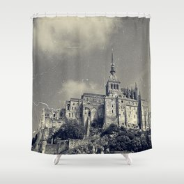 The Island of Mont St Michel Shower Curtain