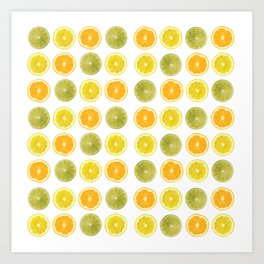 Oranges, Lemons, and Limes Oh My! Art Print