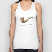 magritte Tank Tops featuring This Ain't a Pipe. (Southern Magritte) by Old South Inkery