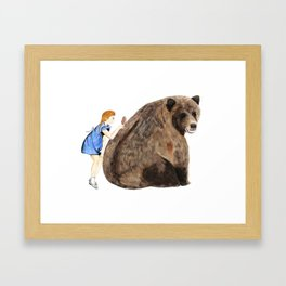 Grizzly Girl Framed Art Print
