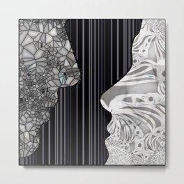 Hello! Dual Side Silhouette   Metal Print