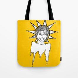 untitled (melting head with crown) Tote Bag