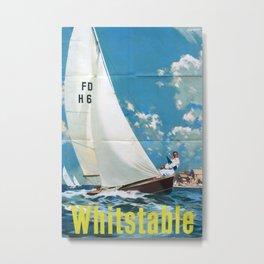 Whitstable Vintage Travel Poster Metal Print