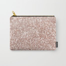 Sparkling Rose Gold Blush Glitter #2 #shiny #decor #art #society6 Carry-All Pouch