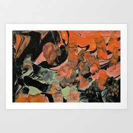 Fall Thoughts - Abstract Acrylic Painting Art Print