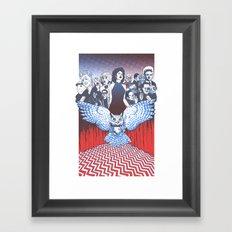 BLACK LODGE BURLESQUE Framed Art Print