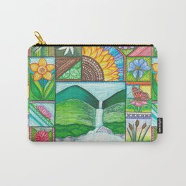 Be Free, Be Wild, Be Friends Carry-All Pouch