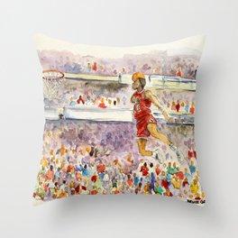 Michael_Pro basketball player Throw Pillow