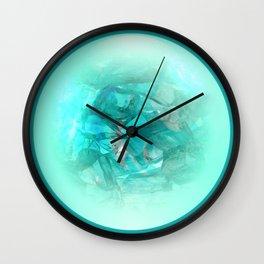 Chrystal Glow Blue Abstract Wall Clock