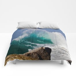 Waves ~  The Wedge, Newport Beach CA Comforters