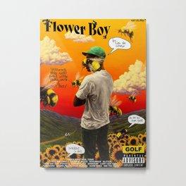 Tyler The Creator Flower Metal Print