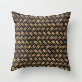 Natural Blended Weave Throw Pillow