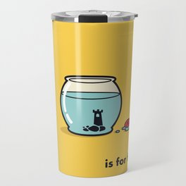 F is for freedom - the irony Travel Mug
