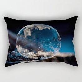 Blue Reflections Bubble Rectangular Pillow