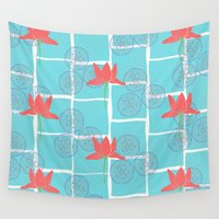 lotus Wall Tapestries featuring Lotus by nandita singh